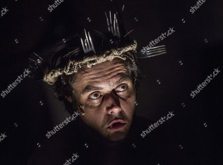 Stock Image of Hungarian Actor Tamas Keresztes Performs His Solo Piece During the Rehearsal of 'Diary of a Madman' by Nikolai Wassiljewitsch Gogol in Juranyi Production Community Incubator House in Budapest Hungary 23 September 2016 a Day Before the Premiere the Drama was Directed by Viktor Bodo of Hungary Hungary Budapest