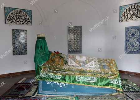 The Tomb of the Famous Turkish Poet Gul Baba (or Father of Roses) is Seen After Turkish President Abdullah Gul and His Wife Hayrunnisa Gul Paid a Visit Here in Budapest Hungary 18 February 2014 Gul Baba was a Muslim Dervish and Member of the Bektashi Order who Died After the Capture of Buda in 1541 According to a Legend Gul Baba Introduced the Roses in Budapest Hungary Budapest