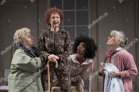 Stock Image of Joanna Munro as June, Sheila Reid as Gloria, Keziah Joseph as Hope, Rachel Davies as Maureen