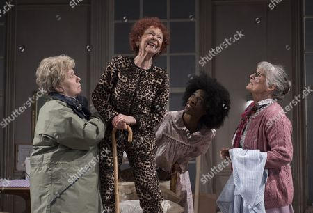 Joanna Munro as June, Sheila Reid as Gloria, Keziah Joseph as Hope, Rachel Davies as Maureen
