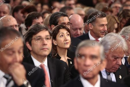 Colombian-french Politician and Anti-corruption Activist Ingrid Betancourt During the Peace Prize Awarding Ceremony at the City Hall in Oslo Norway 10 December 2016 President Juan Manuel Santos Are Awarded This Year's Nobel Peace Prize For His Efforts to Bring Colombias More Than 50-year-long Civil War to an End Norway Oslo