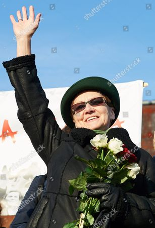 Stock Picture of Lech Walesa's Wife Danuta Walesa is Seen During a Rally in Support of Her Husband in Gdansk Poland 28 February 2016 the Event was Held in Support of First Leader of Solidarity Movement and Former Polish President Lech Walesa who was Recently Accused of Being Communist-era Secret Informer Codenamed 'Bolek' Poland Gdansk