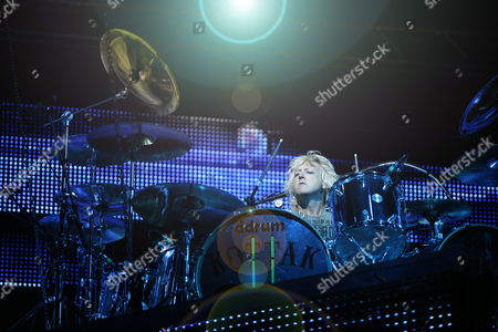 James Kottak Drummer of the German Band Scorpions During Their Concert at the 'Rock For Freedom: Legends of Rock' Festival in Wroclaw Poland 31 August 2012 Poland Wroclaw