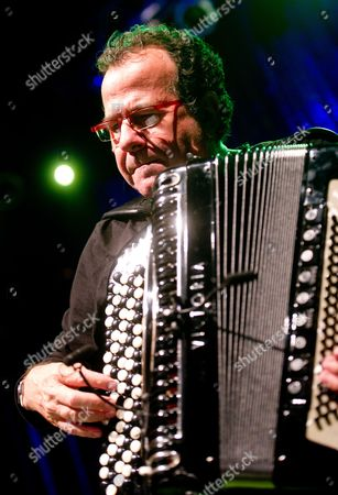 French Accordionist Richard Galliano Performs at the Club Label in Lodz Poland 16 August 2012 As Part of the V Summer Jazz Academy Poland Lodz