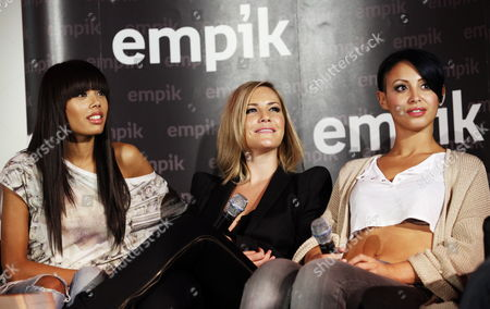 Members of English Band 'Sugababes' (l-r) Jade Ewen Heidi Range and Amelle Berrabaha Pose For Photographs As They Meet Their Fans in Warsaw Poland 26 February 2010 the Sugababes Are in Poland to Promote Their New Album 'Sweet 7' Poland Warsaw