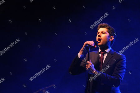 Stock Photo of Canadian Jazz Musician Matt Dusk Performs During the Concert in Poznan Poland 05 March 2010 the Concert is the Last of Five Polish Tour Dates Poland Poznan