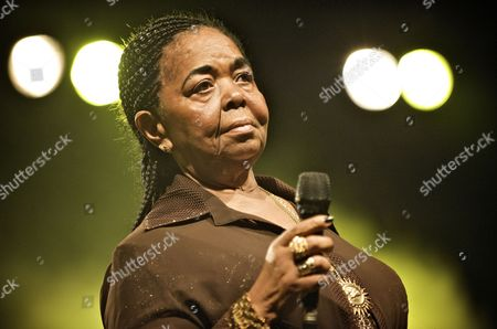 Cape Verdean Folk Singer Cesaria Evora Performs During a Concert at the Ethno Jazz Festival in Wroclaw Poland 24 November 2009 Poland Wroclaw
