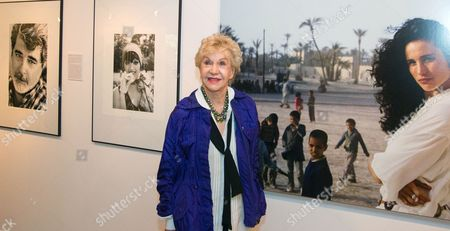 Us Photographer Pat York Poses in Front of Photographs Displayed During the Exhibition 'Covered-uncovered' at the Cultural Center Katowice Poland 19 August 2014 the Exhibition Runs Until 08 September Poland Katowice