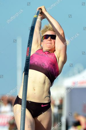 Martina Strutz of Germany Competes in the Women's Pole Vault Competition During the Tournament 'Pole on the Pier 2013' in Sopot Poland 30 May 2013 Ptacnikova-svobodova Won the Competition Poland Sopot
