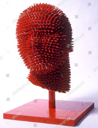 'Redhead' life-size sculpture made entirely from crayons