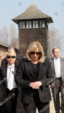 Slovak Prime Minister Iveta Radicova (c) Visits the Former Nazi-german Concentration Camp Kl Auschwitz in Oswiecim Poland 23 March 2012 Poland Oswiecim