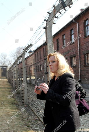 Stock Image of Slovak Prime Minister Iveta Radicova Visits the Former Nazi-german Concentration Camp Kl Auschwitz in Oswiecim Poland 23 March 2012 Poland Oswiecim
