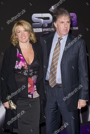 Mark Lawrenson and wife
