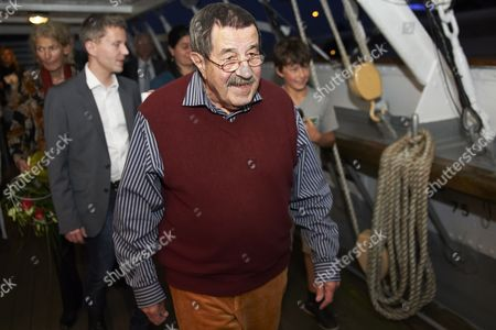 Nobel Prize-winning German Author Gunter Grass Leaves the Polish Sailing Frigate the Dar Pomorza in Gdynia Poland 29 June 2012 After Premiere of the Spectacle 'Crabwalk' by Gunter Grass and Directed by Polands Pawel Huelle Poland Gdynia