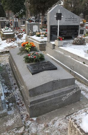 The Tomb of Szymborscy Family Pictured at the Rakowicki Cemetery in Krakow Poland 02 February 2012 the Funeral of Polish Poet Wislawa Szymborska Will Be Held in Her Home Town of Krakow the Nobel Laureate Will Be Buried Alongside Her Parents and Sister in the Family Tomb on 09 February 2012 Poland Krakow