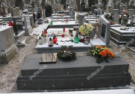 The Tomb of Szymborscy Family (foreground) at the Rakowicki Cemetery in Krakow Poland 02 February 2012 the Funeral of Polish Poet Wislawa Szymborska Will Be Held in Her Home Town of Krakow the Nobel Laureate Will Be Buried Alongside Her Parents and Sister in the Family Tomb on 09 February 2012 Poland Krakow