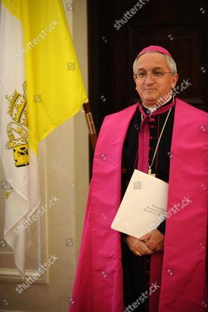 Archbishop Celestino Migliore New Apostolic Nuncio to Poland Waits For Polish President Bronislaw Komorowski to Submit His Credential During a Ceremony in Warsaw Poland 15 September 2010 Poland Warsaw
