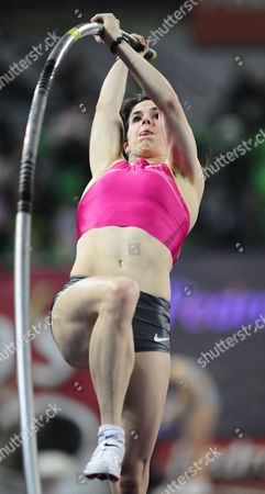 Kate Dennison of the Us in Action During the Women's Pole Vault of the Pedro's Cup Indoor Meeting at the Luczniczka Arena in Bydgoszcz Poland 10 February 2010 Poland Warszawa