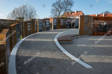 A General View of the 'Courage and Reconciliation' Exhibition Presented on the Ocassion of the 25th Anniversary of the Mass of the Polish-german Reconciliation in Krzyzowa Poland 12 November 2014 on 12 November 1989 Polish Prime Minister Tadeusz Mazowiecki and German Chancellor Helmut Kohl Embrace Each Other During the Holy Mass Starting the Reconciliation Between the Two Nations After Post-war Difficult and Bitter Relations the Exhibition Organized by the Museum of Polish History Will Be Officially Opened by Polish Prime Minister Ewa Kopacz and German Chancellor Angela Merkel on 20 November 2014 Poland Krzyzowa