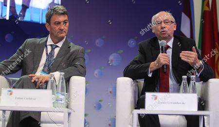 Eu Budget and Financial Programming Commissioner Janusz Lewandowski (r) and Hungarian Minister of State in the Ministry For National Economy Zoltan Csefalvay (l) Attend the 'Central Europe Scorecard 2030 - Emerging Or Emerged?' Plenary Session During the 23rd Economic Forum in Krynica-zdroj Southern Poland 04 September 2013 the Forum is Under the Motto 'Towards a New Deal' Which Refers to an Economic Social and Political Transformations After Global Economic Crisis Epa/grzegorz Momot Poland Krynica-zdroj