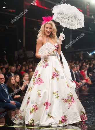 Stock Image of A Picture Made Available on 30 November 2014 Shows Miss America 2013 Allyn Rose of Usa Taking Part in the Miss Fashion World 2014 in Lodz Poland 29 November 2014 the Competition was Attended by 83 Miss From Around the World Poland Lodz
