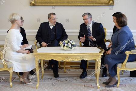Editorial photo of Poland Estonia Diplomacy - Mar 2014
