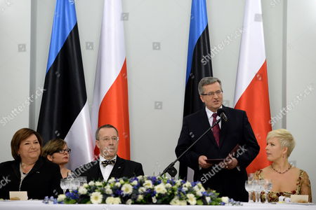 Editorial image of Poland Estonia Diplomacy - Mar 2014