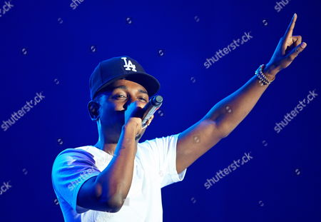 Us Rapper Kendrick Lamar (kendrick Lamar Duckworth) Performs on Stage During the First Day of the Heineken Open'er Festival in Gdynia Poland 03 July 2013 the 12th Edition of the Festival Runs Form 3-6 July 2013 Poland Gdynia