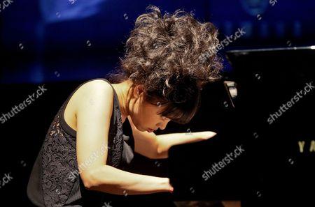Japanese Jazz Pianist and Composer Hiromi Uehara Performs on Stage During Her Concert in Gorzow Wielkopolski Poland 05 April 2014 Poland Gorzow Wielkopolski