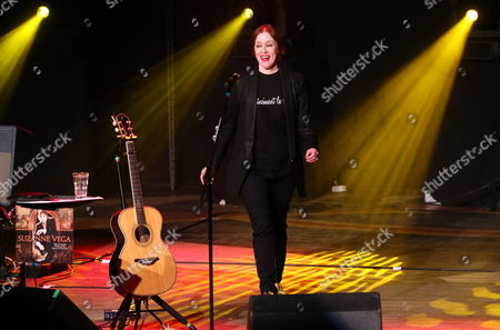 Us Singer-songwriter Suzanne Vega Arrives on Stage to Perform a Concert in Warsaw Poland 23 July 2014 Poland Warsaw