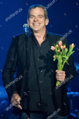 Canadian Singer Garou Performs During a Concert at the Wroclaw Centennial Hall in Wroclaw Poland 21 March 2015 the Concert Kicked Off His Tour Through the Country Poland Wroclaw
