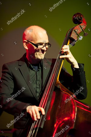 Swedish Contrabassist Lars Danielsson Performs on Stage with Polish Jazz Pianist Leszek Mozdzer (not in Picture) and Drummer Israel's Zohar Fresco (not in Picture During the Enter Music Festival in Poznan Poland 28 May 2013 the Festival Runs Until 29 May Poland Poznan