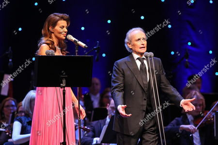 Polish Singer Edyta Gorniak (l) and Spanish Tenor Jose Carreras (p) Perform During a Joint Concert in the Ergo Arena Hall in Gdansk Poland 22 April 2012 Poland Gdansk