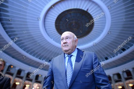 The Last White President of South Africa and Nobel Peace Prize Laureate Frederik Willem De Klerk Attends to the First Session 'Stand in Solidarity For Peace and Security' of the 13th World Summit of Nobel Peace Laureates in Warsaw Poland 21 October 2013 the Summit Under the Motto 'Stand in Solidarity For Peace - Time to Act' Runs From 21 to 23 October Poland Warsaw