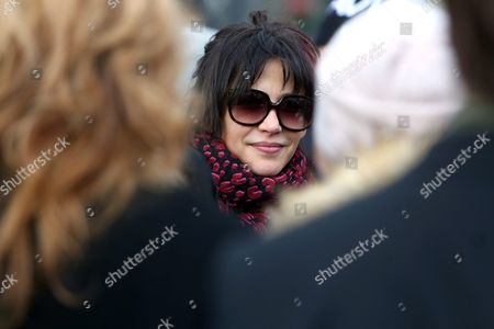 French Actress Sophie Marceau Attends the Funeral of Her Former Partner Polish Filmmaker and Writer Andrzej Zulawski in Gora Kalwaria Near Warsaw Poland 22 February 2016 Zulawski Has Died of Cancer on 17 February 2016 He was 75 Poland Gora Kalwaria