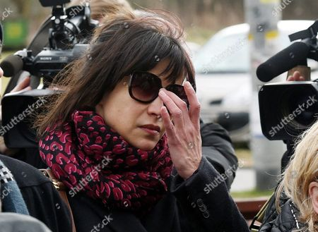 Stock Photo of French Actress Sophie Marceau Attends the Funeral of Her Former Partner Polish Filmmaker and Writer Andrzej Zulawski in Gora Kalwaria Near Warsaw Poland 22 February 2016 Zulawski Has Died of Cancer on 17 February 2016 He was 75 Poland Gora Kalwaria