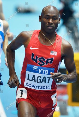 Bernard Lagat of the Usa in Action During the Men's 3000m Heats at the Athletics World Indoor Championships at Ergo Arena in Sopot Poland 07 March 2014 Poland Sopot