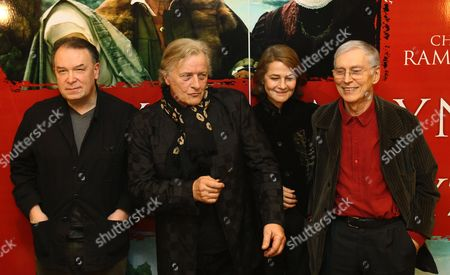 (l-r) Polish Film Director Lech Majewski Dutch Actor Rutger Hauer British Actress Charlotte Rampling and American Writer Michael Francis Gibson Pose During the Press Conference of the Presentatation of the Movie 'The Mill and the Cross' in Warsaw Poland 14 March 2011 'The Mill and the Cross' Based on the Michael Francis Gibson's Book of the Same Name That Features Rutger Hauer Charlotte Rampling and Michael York is Inspired by Pieter Bruegel's 1564 Artwork 'The Procession to Calvary' the Movie by Lech Majewski is Due out During 2011 Poland Warsaw