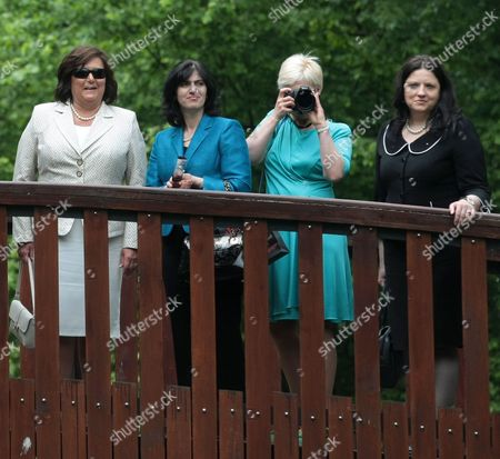 (l-r) Polish First Lady Anna Komorowska Albanian First Lady Teuta Topi Estonian First Lady Evelin Ilves and Macodonian First Lady Maja Ivanov Visit Frederic Chopin's Birthplace in Zelazowa Wola Poland 27 May 2011 the Presidents of 20 Central European Countries on 27 May Opened a Meeting in Warsaw to Discuss Recent Transformations in the Arab World and the Region's Transition Towards Democracy Poland Zelazowa Wola