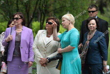 (l-r) Croatian First Lady Tatjana Josipovic Polish First Lady Anna Komorowska Estonian First Lady Evelin Ilves and Slovenian First Lady Barbara Miklic Turk Visit Frederic Chopin's Birthplace in Zelazowa Wola Poland 27 May 2011 the Presidents of 20 Central European Countries on 27 May Opened a Meeting in Warsaw to Discuss Recent Transformations in the Arab World and the Region's Transition Towards Democracy Poland Zelazowa Wola