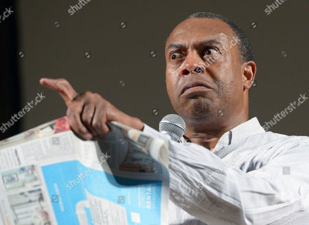 Michael Winslow Us Actor Beatboxer and Comedian Performs on Stage in the Congress Hall at the Palace of Culture and Science in Warsaw Poland 15 June 2014 Winslow is Billed As the 'Man of 10 000 Sound Effects' For His Ability to Make Realistic Sound Effects Using Only His Voice He Starred on Police Academy Films Poland Warsaw