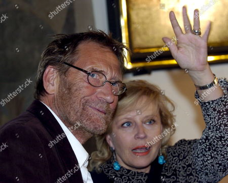 German Author and Nobel Literature Prize Winner Guenter Grass (not in the Picture) Attends a Press Conference Prior to World Premiere of 'Unkenrufe' ('call of the Toad') Based on Grass' Novel in Gdansk on Sunday 11 September 2005 Krystyna Janda (r) and Matthias Habich (l) Played the Main Roles in the Movie Directed by Robert Glinski Poland Gdansk
