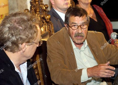 German Author and Nobel Literature Prize Winner Guenter Grass Attends a Press Conference Prior to World Premiere of 'Unkenrufe' ('call of the Toad') Based on Grass' Novel in Gdansk on Sunday 11 September 2005 Krystyna Janda and Matthias Habich Played the Main Roles in the Movie Directed by Robert Glinski Poland Gdansk