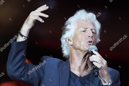 Stock Image of French Singer Gerard Lenorman Performs During a Competition For the Amber Nightingale on the First Day of the Sopot Top As Part of the Top Festival 2012 in Sopot Poland 24 August 2012 Poland Sopot