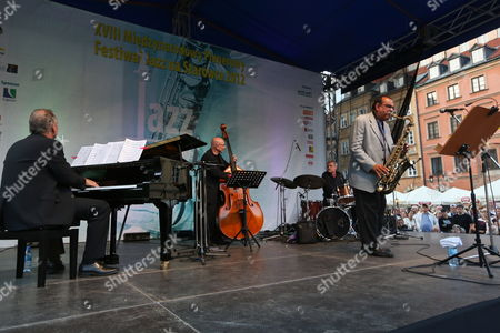 Us Saxophonist Ernie Watts (r) Performs on Stage During Last Concert of the Old Town Square Festival ('jazz Na Starowce') in Warsaw Poland 25 August 2012 Poland Warsaw