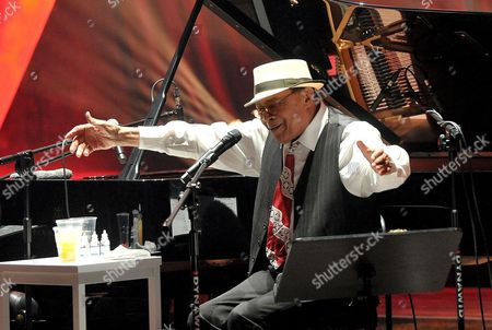 Us Jazz Singer Al Jarreau Performs on Stage Together with Us Multi-instrumentalist Joe Turano (not in Picture) During Their Concert at the Szczecin Philharmonic Hall in Szczecin Poland 01 July 2016 Poland Szczecin