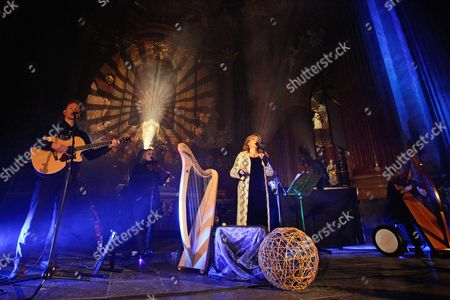 Irish Singer Moya Brennan (c) Known For Her Appearances in the Irish Band Clannad She Appeared Before the Crowd in Poznan Baroque Church Poland 30 November 2010 Moya Brennan is Currently on Tour Poland Poznan