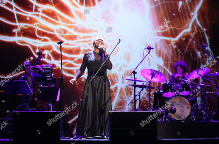 Us Composer and Drummer Terri Lyne Carrington (r) Performs During Her Concert 'The Mosaic Project' with Us Jazz Singer Carmen Lundy (c) Israeli Bassist Tamir Shmerling (l) and Us Jazz Pianist Helen Sung (unseen) in Warsaw Poland 08 November 2012 Poland Warsaw