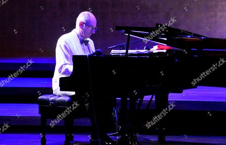 A Picture Made Available on 30 November 2014 Shows Conductor and Pianist Wil Salden of Us Glenn Miller Orchestra Performing During Their Concert at the Szczecin Philharmonic in Szczecin Poland 29 November 2014 Poland Szczecin