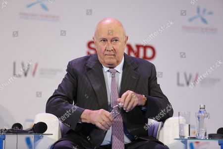 Nobel Peace Prize Laureate and the Last White President of South Africa Frederik Willem De Klerk at the Fourth Session 'Old and New Threats to Human Rights' of the 13th World Summit of Nobel Peace Laureates in Warsaw Poland 22 October 2013 the Summit Under the Motto 'Stand in Solidarity For Peace - Time to Act' Runs From 21 to 23 October Poland Warsaw